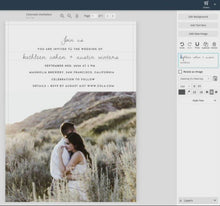Load and play video in Gallery viewer, Colorado Wedding Invitation
