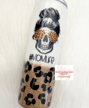 Load image into Gallery viewer, Mom life Leopard tumbler