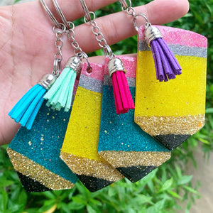 Pencil personalized keychains