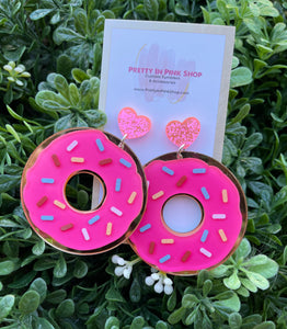 Donut forget I Love You earrings