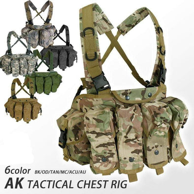 A bay Airsoft tactical Molle AK Chest Rig - KNAMAO