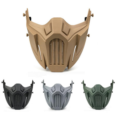 AIRSOFTA MZ-028 Airsoft Iron Warrior War Wolf Half Face Mask - KNAMAO