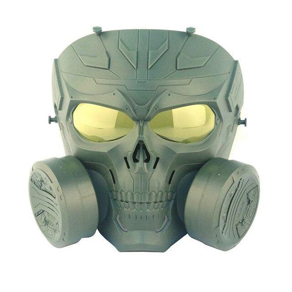AIRSOFTA MZ-087 Skull Airsoft Gas Mask double Filter - KNAMAO