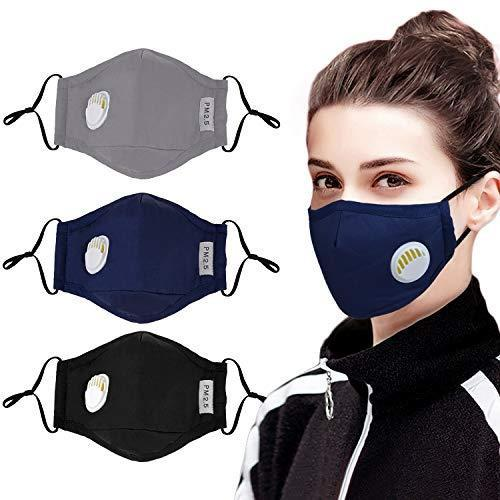 Aniwon Carbon Filter Face Mask PM2.5 Black - KNAMAO
