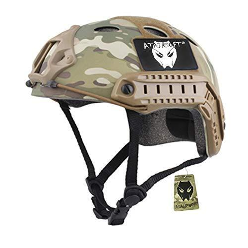 ATAIRSOFT PJ Type Tactical Paintball Airsoft Fast Helmet Multicam - KNAMAO