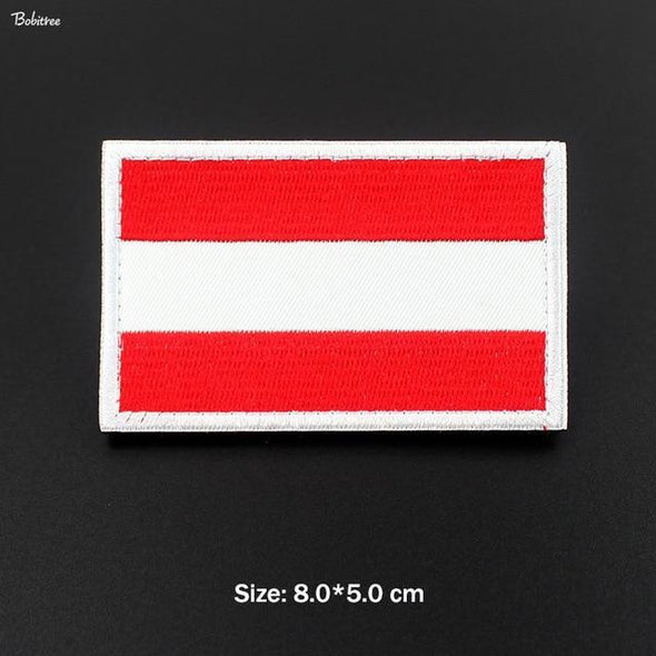 Bobitree Embroidered National Flag Patch Austria - KNAMAO