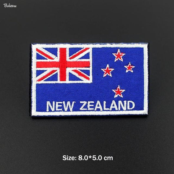 Bobitree Embroidered National Flag Patch New Zealand - KNAMAO