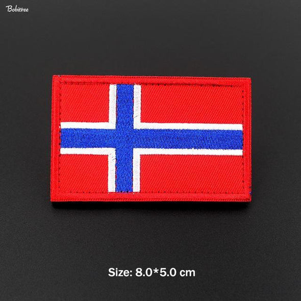 Bobitree Embroidered National Flag Patch Norway - KNAMAO