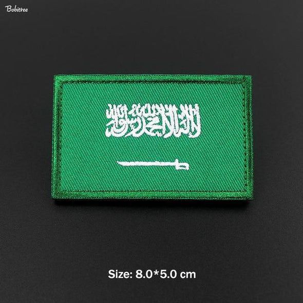 Bobitree Embroidered National Flag Patch Saudi Arabia - KNAMAO