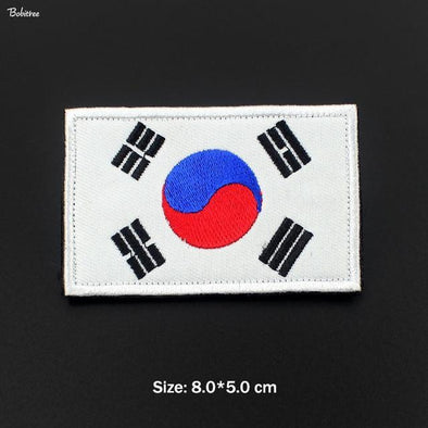 Bobitree Embroidered National Flag Patch South Korea - KNAMAO