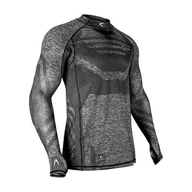 C Carbon SC Protective Top Upper Body Padded Paintball Compression Shirt - KNAMAO