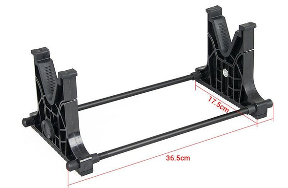 CANIS LATRANS Rifle Cleaning And Maintenance Cradle Rack with Wall Mount Black - KNAMAO