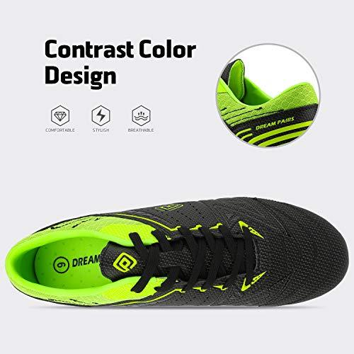 DREAM PAIRS 160859 Men's Black Neon-Green Sport Cleats - KNAMAO