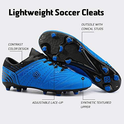 DREAM PAIRS 160859 Men's Royal Black Sport Cleats - KNAMAO