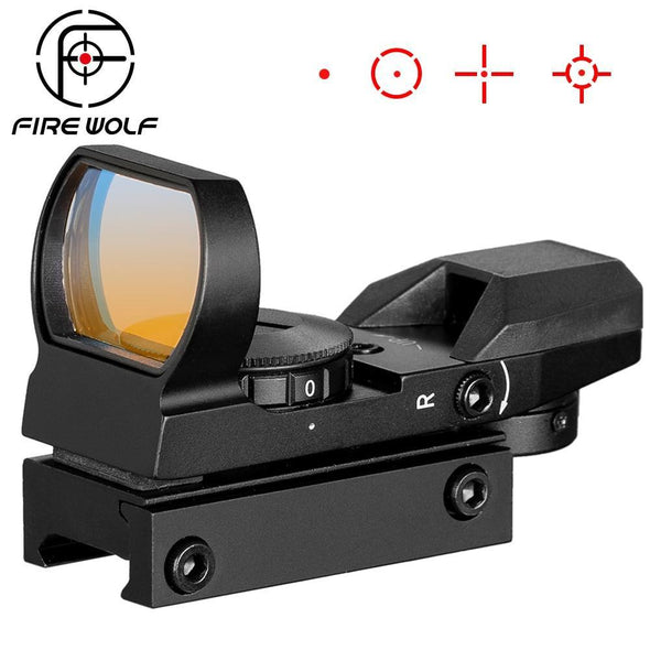 Fire Wolf 342 Multi Red Dot Sight with Mount for 20mm Rail Black - KNAMAO