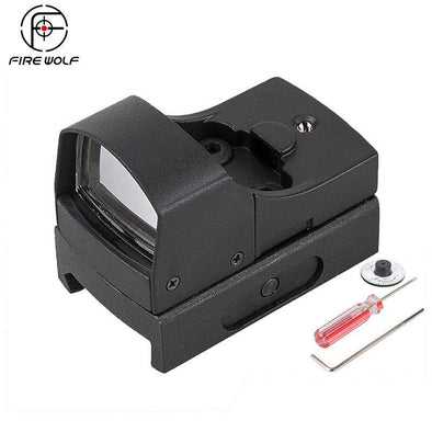 Fire Wolf 345 Mini Dot Reflex Sight Red Green for 20mm Rail Mount - KNAMAO