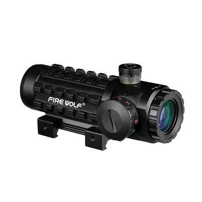 Fire Wolf FW1-NHD194 3X28 Green-Red Dot tactical Cross Sight Scope for 11 and 20mm Rail Mount - KNAMAO