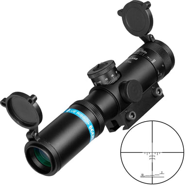 Fire Wolf FW28-EB-204 4x21 AO Compact Hunting Rifle Scope - KNAMAO