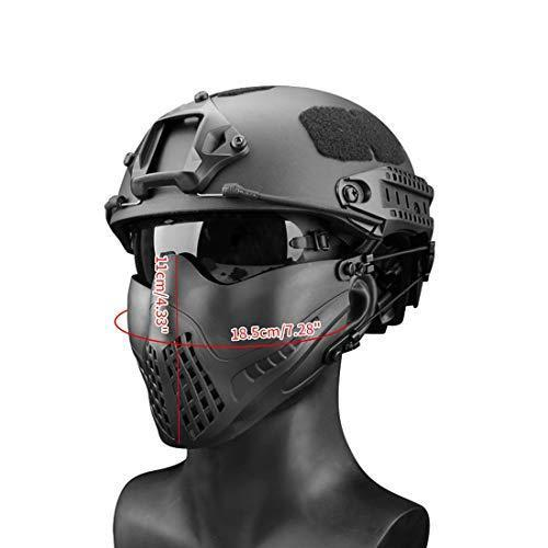 Freahap Airsoft Half Face Mask Black - KNAMAO