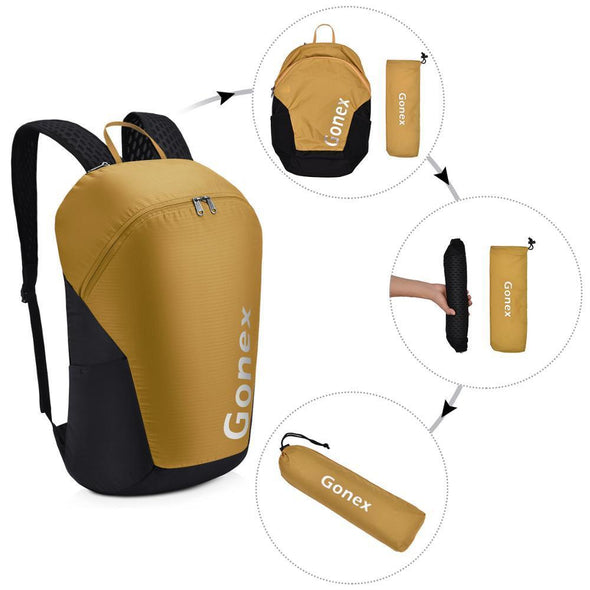 Gonex 32L Lightweight Foldable Packable Sport Daysack - KNAMAO