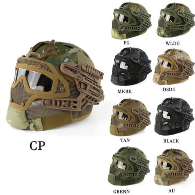 Guanhzhou Airsoft FAST-Helmet with Google-Mask Combination - KNAMAO