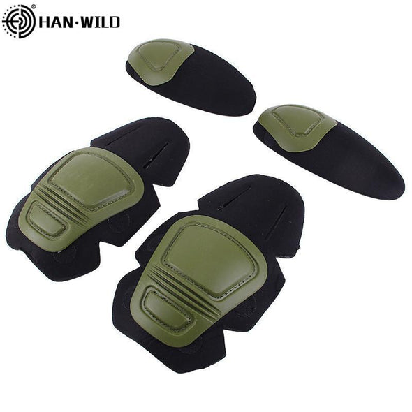 Han Wild Airsoft Tactical Knee-Elbow Protector Pad for Combat Uniform Set - KNAMAO