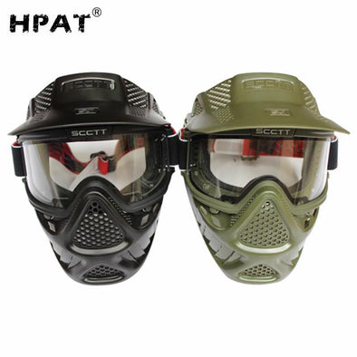 HPAT SC01 Double Lens Anti Fog Paintball Mask - KNAMAO