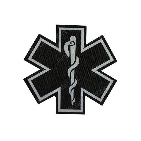 INCOOL 3D PVC Medical PARAMEDIC Tactical Moral Patch Black-White - KNAMAO