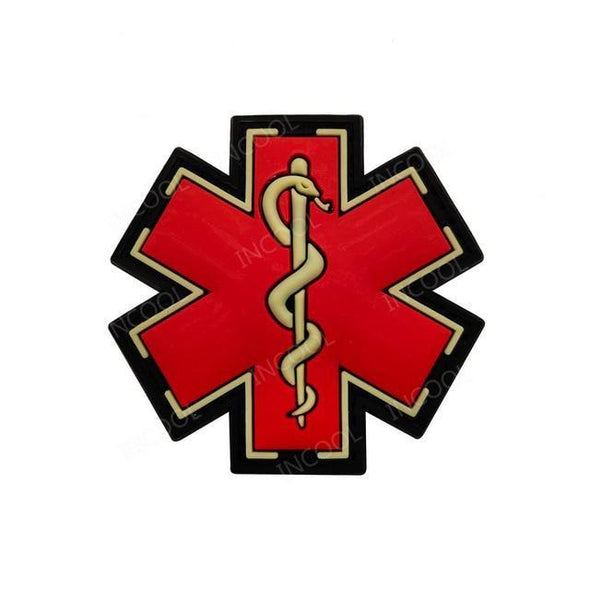 INCOOL 3D PVC Medical PARAMEDIC Tactical Moral Patch Red - KNAMAO