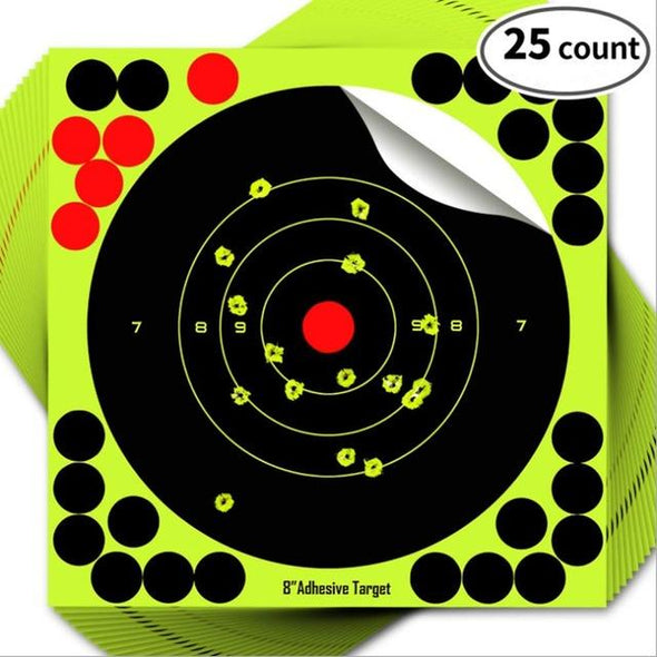 KNAMAO 8-Inch Reactive Splatter Targets Self Adhesive Green-Yellow - KNAMAO