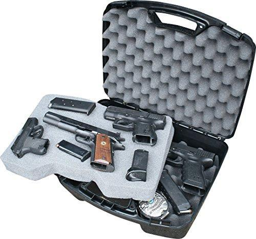 MTM Multi Handgun Case for Four Pistols Black - KNAMAO