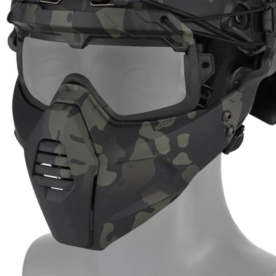 One-Step MA-115 Detachable Mask-Goggle KT01 Combination for Helmet-Rails - KNAMAO
