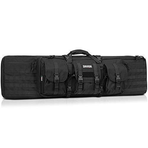 Savior Equipment American Classic Tactical Double Long Rifle Gun Bag Firearm 42 Inch Obsidian-Black - KNAMAO