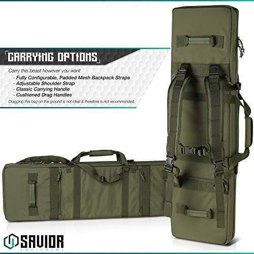 Savior Equipment Urban Warfare Tactical Double Long Rifle Bag - 42 Inches - KNAMAO