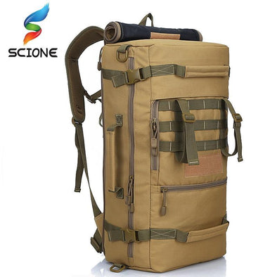 Scione Tactical Military 3P Molle Mountaineering Backpack 45-60L - KNAMAO