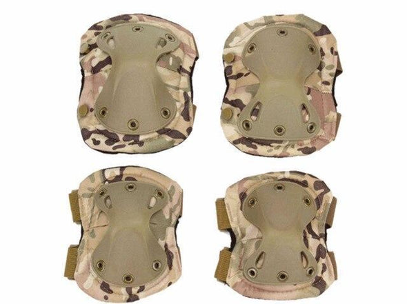 SINAIRSOFT Tactical Airsoft Protective Knee-Elbow Protector Pad Set - KNAMAO