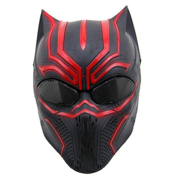 Spider Airsoft Black Panther Ghost Mask - KNAMAO