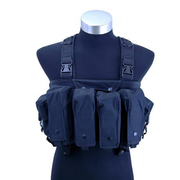 Supering Airsoft Tactical Chest Rig with Magazin and Universal Pouches - KNAMAO