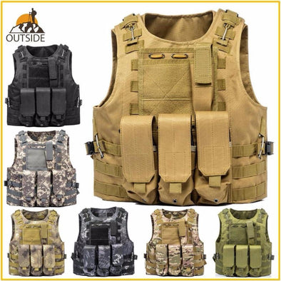 Supering Airsoft USMC Tactical Molle Combat Assault Plate Carrier - KNAMAO
