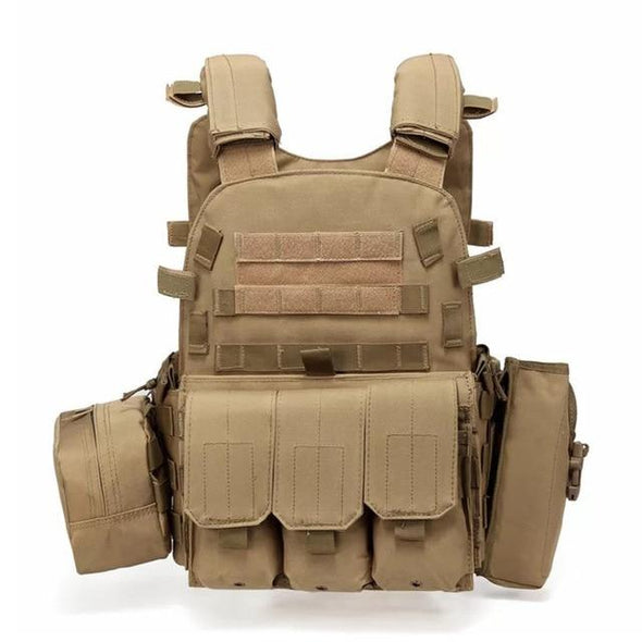 ZOHAN Airsoft USMC Tactical Molle Combat Plate Carrier - KNAMAO