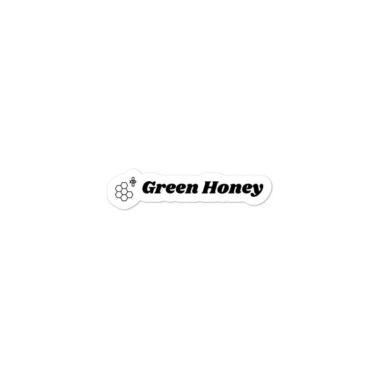 Green Honey Brand Sticker