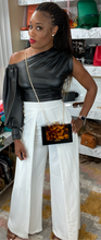 Load image into Gallery viewer, One shoulder Vegan Leather Top