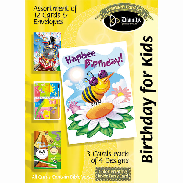 Divinity Boutique Boxed Cards: Birthday For Kids