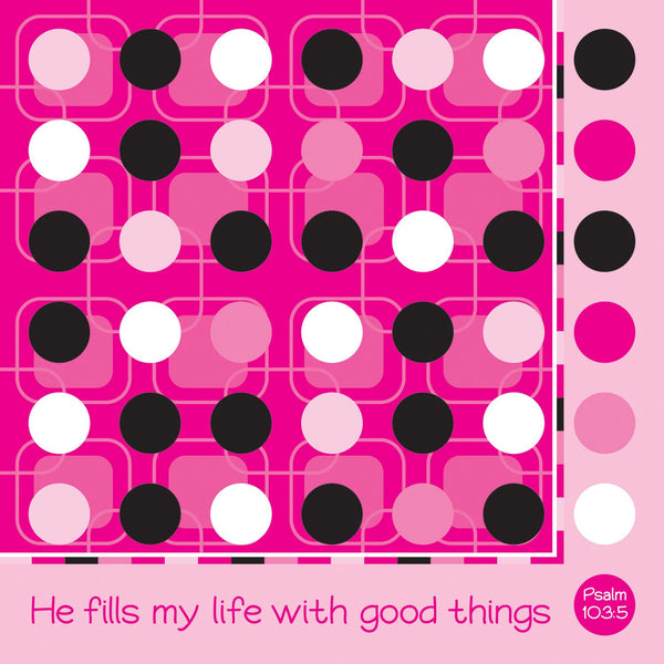 Divinity Boutique Napkin: Good Things-Dots (6 Pack)