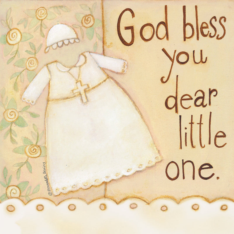 Divinity Boutique Napkin: Baptism: Dear Little One Scripture (6 Pack)