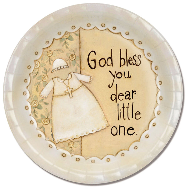 Divinity Boutique Baptism Dear Little One with Scripture Paper Plate