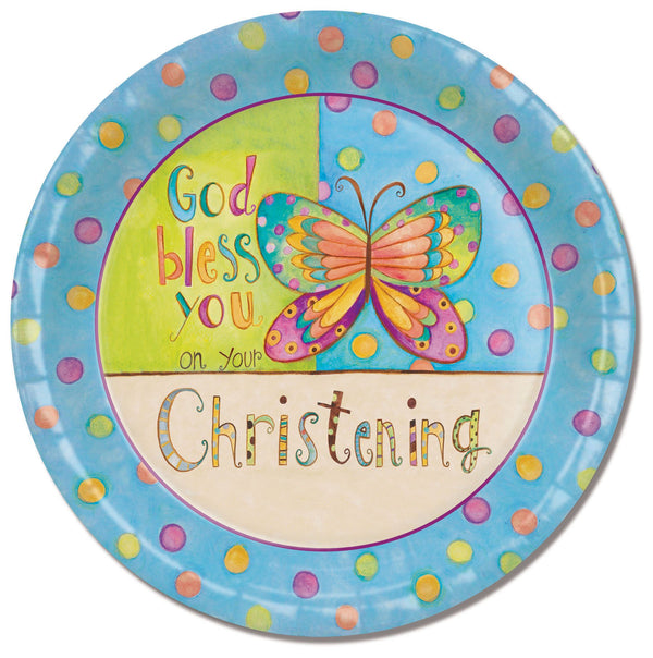 Divinity Boutique Baptism Christening with Scripture Paper Plate