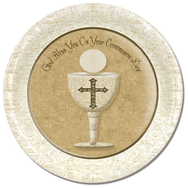 Divinity Boutique Communion Chalice with Scripture Paper Plate
