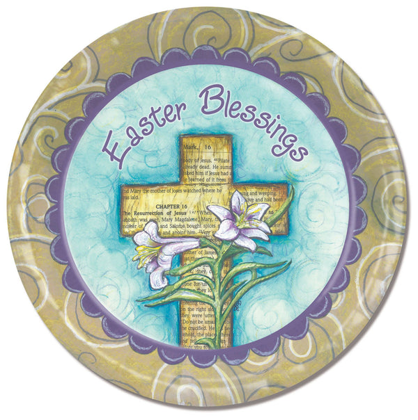 Divinity Boutique Easter Blessings with Scripture Paper Plate