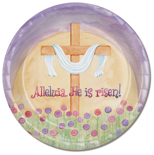 Divinity Boutique Easter Alleluia with Scripture Paper Plate